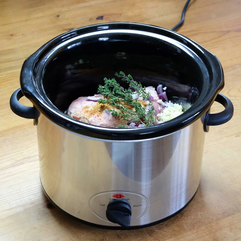 Slow Cooker Cooks Food Slowly And At Low Temperatures