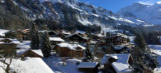 Wengen in the Jungfrau Region of Switzerland