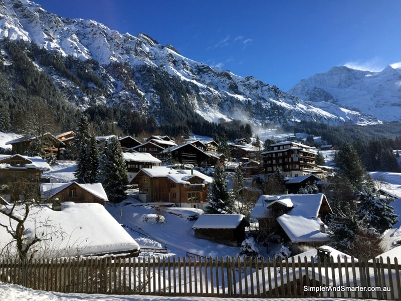 Wengen in the Jungfrau Region of Switzerland