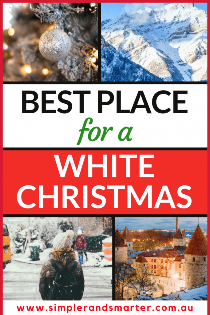 best place for a white christmas